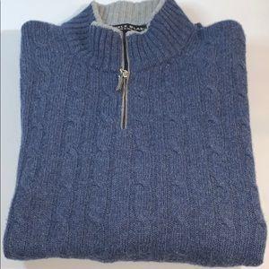 Danielle Blasi XL Blue Gray Quarter Zip Sweater